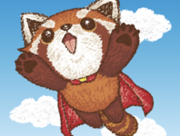 Red panda superhero
