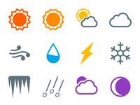Weather Line Icons