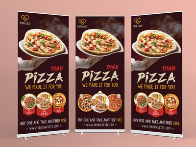 Pizza Signage Banner Roll Up Template