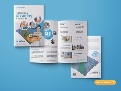 Cleaning Service Bifold Brochure