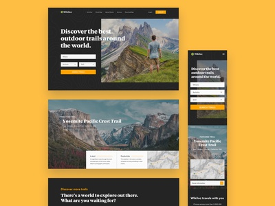 Wikiloc Redesign web travel mountains nature hike wikiloc hiking trails logo branding vector minimalist minimal header hero landing uiux ux ui design ui