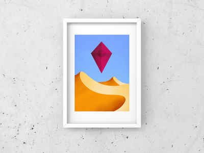 No Man's Sky dune dunes no mans sky flat minimalist minimal abstract spaceship desert vector design illustration