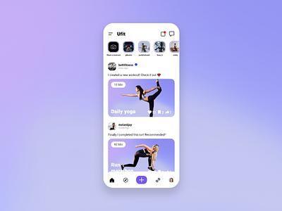 Ufit Social Fitness app fitness club fitness app fitness minimal mobile app design mobile design mobile app mobile ui