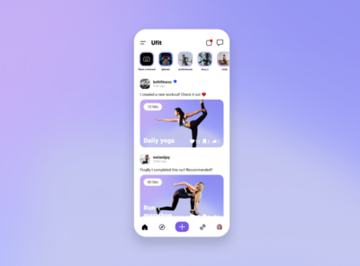 Ufit Social Fitness app fitness club fitness app fitness minimal mobile app design mobile design mobile app mobile ui
