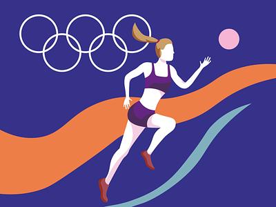 Tokyo 2020 athlete tokyo 2020 tokyo olympics minimal illustration illustration digital art minimal