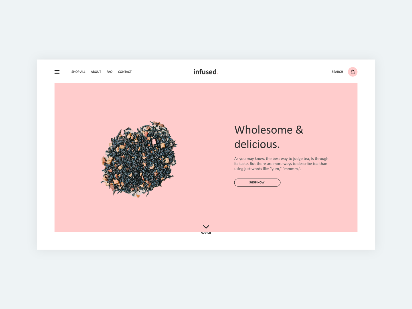 Infused E-Commerce Website website concept webshop webdesign website design ecommerce design ecommerce tea design dailyui challenge ui dailyui