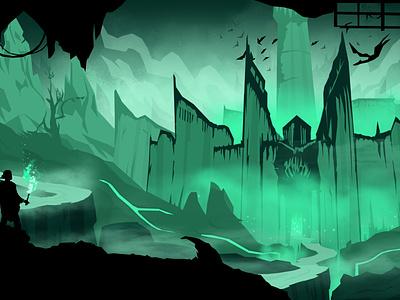 Minas Morgul fanart creative artwork lineart flatcolours movie film minimalistic fantasyart illustration fantasy lotr lordoftherings