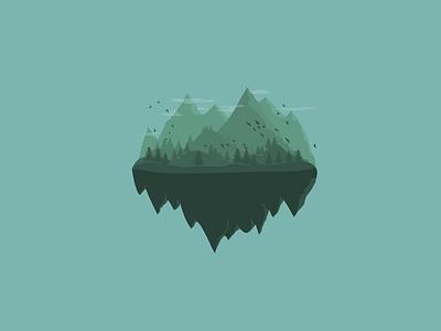 Floating land wallpapers croatia wallpaper vectorart vector landscape illustration landscape design landscape illustration art desgin lineart illustration digitalart design art art
