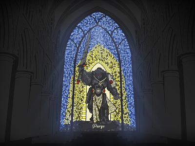Black Templar colors windows interior illustrations game warhammer design artwork vectorart vector wallpaper lineart digitalart art design art illustration