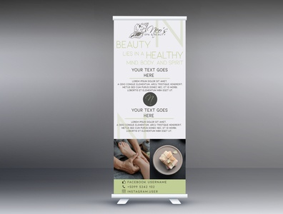 Spa & Beauty roll up banner design
