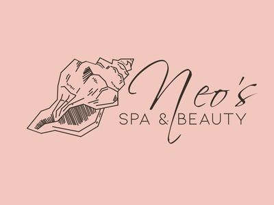 Neo's spa & beauty logo design art digitalart illustration croatia malaysia beauty salon wellness spa shell design creative ideas design art logo