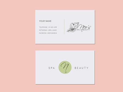 Business card design idea salon wellness spa logodesign artwork create logo brand create ideas creative business cards business design art digitalart