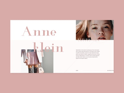 Anne Klein ui website design design concept website fashion webdesign uidesign