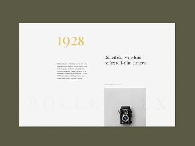 Rolleiflex web webdesign uidesign typography concept intarface design ui
