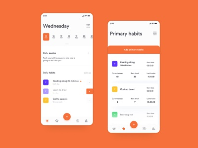 GetNewHabit ui mobile mobile design uidesign intarface concept design
