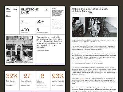 Agency Website — Curated agency layout web design webflow figma minimal web website typogaphy uiux ui design