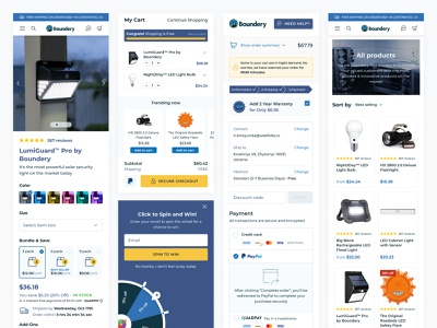 Boundery Shop interface design web uidesign intarface collections ecommerce webdesign eshop product shopify layout figma uiux ui web design design website