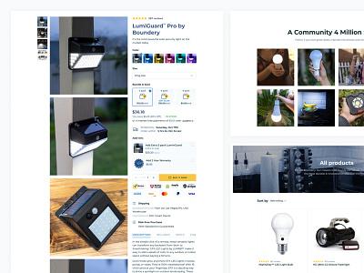 Boundery Shop interface design web uidesign intarface collections ecommerce webdesign eshop product shopify layout figma uiux ui web design design website