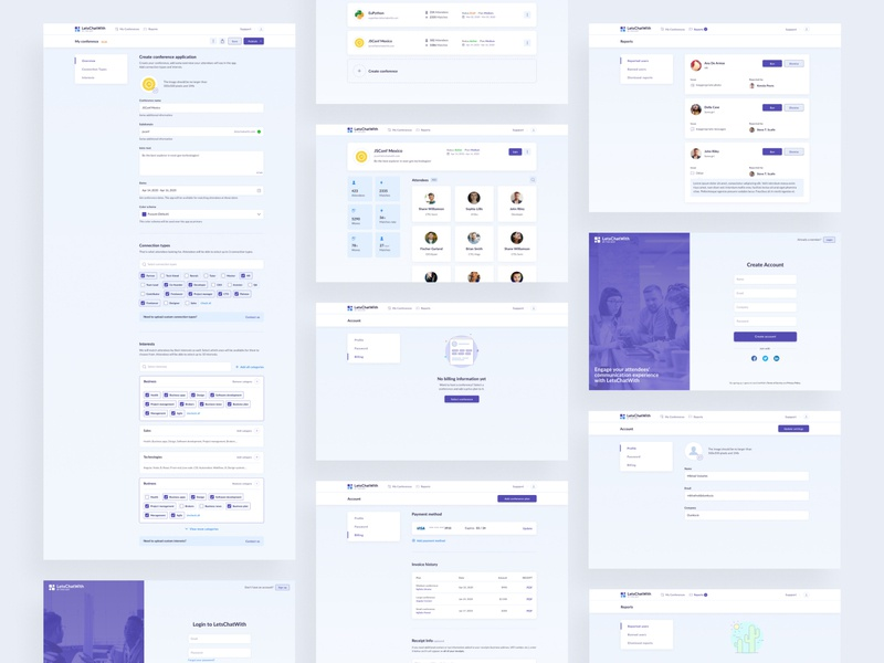 LetsChatWith — Organizers role intarface uidesign form webdesign web design minimal admin panel website design layout figma ux ux design ui design web ui interface design