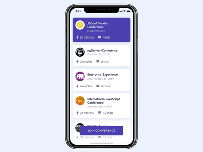 LetsChatWith — Join conference flow design ui design interface figma interface design app mobile design mobile app animation mobile user interface user experience conference clean mobile ui