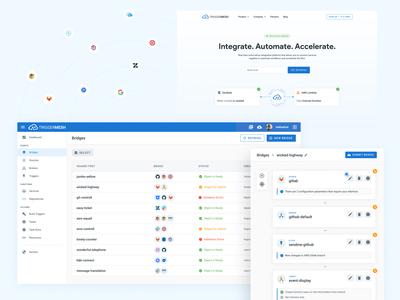 TriggerMesh app dashboad saas website saas design system ui design ux interface design web design website layout web figma webdesign design