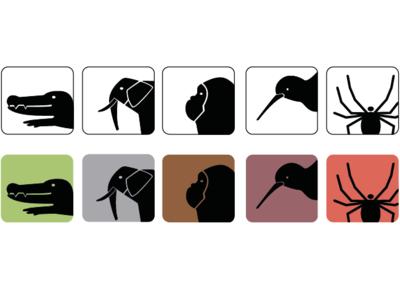 Animal Icons (Study work)