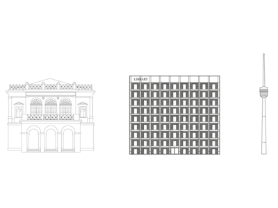 City Icons Building in Stuttgart