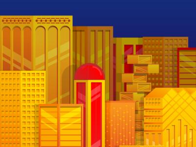 Golden City Illustration