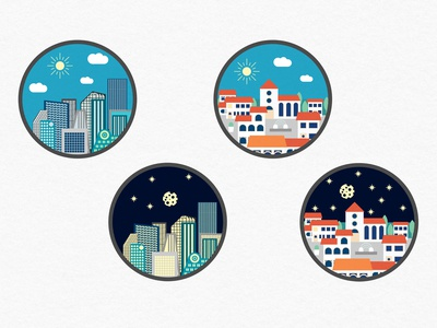 City Town Icons Oliverloos Travel