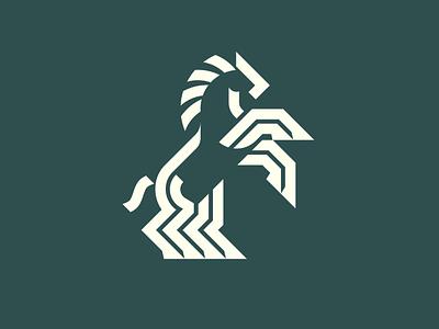 Apolosa logo thicklines geometric logo horse