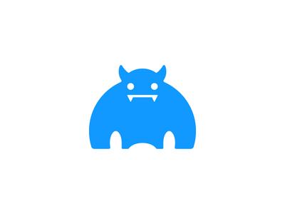 Monster brute one-color monster logo