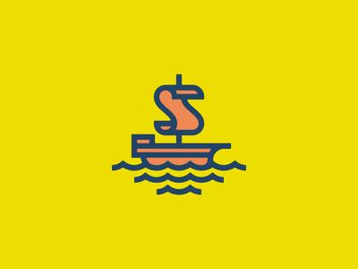Script ship waves ship logo