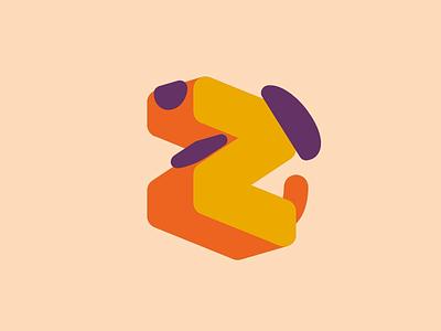 Zdog logo 3d logo