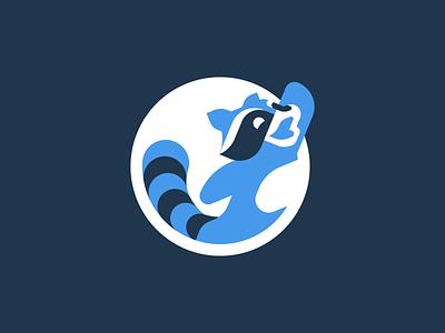 Indie Hackers raccoon mascot logo geometric mascot logo
