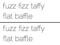 Raleway Metafizzy