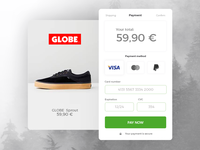 Daily UI /02/ Credit Card Checkout for Globe
