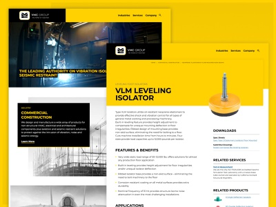 VMC Group Website Redesign website design