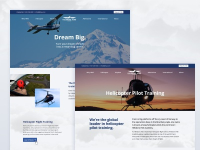 Hillsboro Aero Academy Website Redesign web design