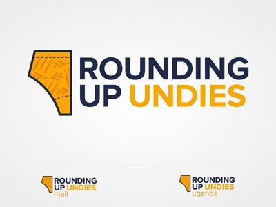 Rounding Up Undies Logo proxima nova mali uganda underwear undies charity africa