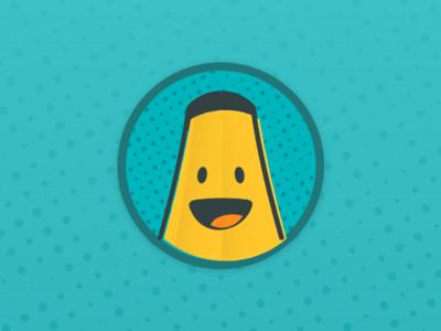 Banana Sticker halftone banana illustration