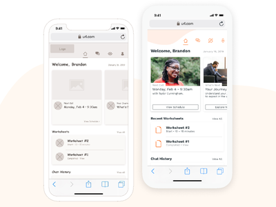 UX: Mental Health Platform visual design ux