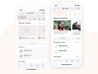 UX: Mental Health Platform visual design ux