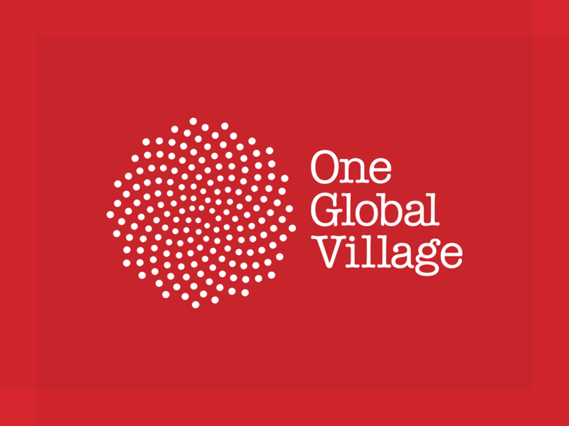 One Global Village logo logo