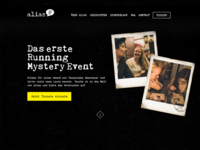 WIP - Website for a Mystery Event called alias