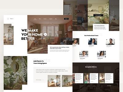 Interior Design 🏚️ web uidesign trend minimal landing page interior design interior inspiration flat design decoration decor concept clean awesome app