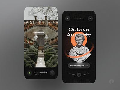 Museum AR Tour 🏛 awsome minimal trend clean interface application history ancient exhibition virtual museum app sculpture design art museum