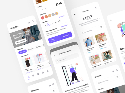 Shoplon | E-commerce UI Kit 🛍 ui kit delivery sale clean minimal categories clothes online store product shopping app product design style fashion woman marketplace