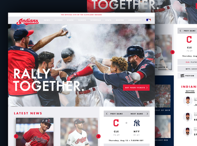 Cleveland Indians MLB Website Redesign