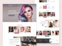 women salon website