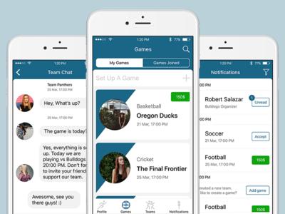 TeamUp App app mobile mockup prototype wireframes ux ui